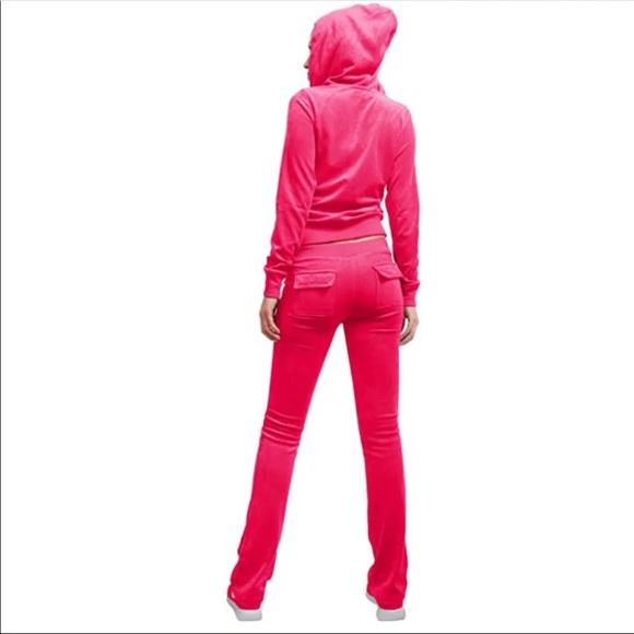 Pants Pink Velour Sweatsuit Poshmark